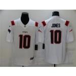 New England Patriots #10 Mac Jones White Vapor Limited Jersey