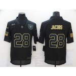 Nike Raiders #28 Josh Jacobs Black 2020 Salute To Service Limited Jersey