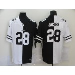 Nike Raiders #28 Josh Jacobs Black And White Split Vapor Untouchable Limited Jersey