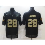 Nike Raiders #28 Josh Jacobs Black Camo 2020 Salute To Service Limited Jersey