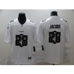 Nike Raiders #28 Josh Jacobs White Shadow Logo Limited Jersey