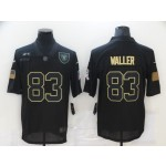 Nike Raiders #83 Darren Waller Black 2020 Salute To Service Limited Jersey