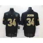 Nike Raiders #34 Bo Jackson Black Camo 2020 Salute To Service Limited Jersey