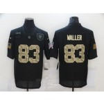 Nike Raiders #83 Darren Waller Black Camo 2020 Salute To Service Limited Jersey