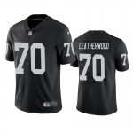 Men's Raiders #70 Alex Leatherwood Black Vapor Limited 2021 NFL Draft Jersey