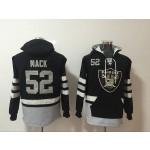 NFL Oakland Raiders #52 Khalil Mack Black All Stitched Hooded Sweatshirt