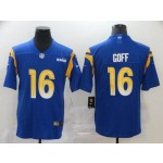 NFL Rams #16 Jared Goff Royal 2020 New Vapor Untouchable Limited Jersey