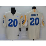 NFL Rams #20 Jalen Ramsey Cream 2020 New Vapor Untouchable Limited Jersey
