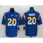 NFL Rams #20 Jalen Ramsey Royal 2020 New Vapor Untouchable Limited Jersey