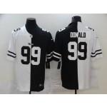 NFL Los Angeles Rams #99 Aaron Donald Men's Black V White Peace Split Nike Vapor Untouchable Limited Jersey