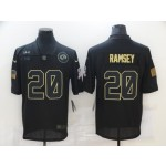 Nike Rams #20 Jalen Ramsey Black 2020 Salute To Service Limited Jersey