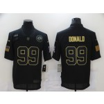 Nike Rams #99 Aaron Donald Black 2020 Salute To Service Limited Jersey