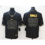 Nike Rams #99 Aaron Donald Black Gold Vapor Untouchable Limited Jersey