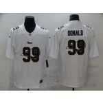 Nike Rams #99 Aaron Donald White Shadow Logo Limited Jersey