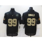 Nike Rams #99 Aaron Donald Black Camo 2020 Salute To Service Limited Jersey