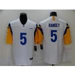 Los Angeles Rams #5 Jalen Ramsey White Vapor Limited Jersey