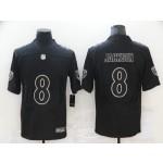 Nike Ravens #8 Lamar Jackson Black Vapor Untouchable Limited Fashion Jersey