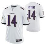 Men's Baltimore Ravens Sammy Watkins #14 White Vapor Limited Jersey