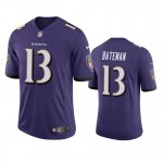 Men's Ravens #13 Rashod Bateman Purple Vapor Limited 2021 NFL Draft Jersey