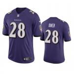Men's Ravens #28 Jayson Oweh Purple Vapor Limited 2021 NFL Draft Jersey