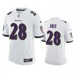 Men's Ravens #28 Jayson Oweh White Vapor Limited 2021 NFL Draft Jersey