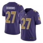 Nike Ravens #27 J.K. Dobbins Purple Men Stitched NFL Limited Rush Jersey