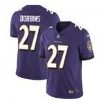Nike Ravens #27 J.K. Dobbins Purple Team Color Men Stitched NFL Vapor Untouchable Limited Jersey