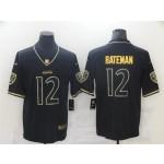 Baltimore Ravens #12 Rashod Bateman Black Gold Vapor Limited Jersey