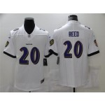 Baltimore Ravens #20 Ed Reed White Vapor Limited Jersey