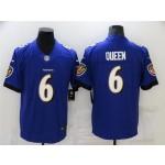 Baltimore Ravens #6 Patrick Queen Purple Vapor Limited Jersey