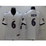 Baltimore Ravens #6 Patrick Queen White Vapor Limited Jersey