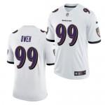 Men's Baltimore Ravens #99 Jayson Owen White 2021 Vapor Untouchable Limited Stitched Jersey