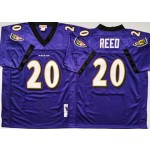 NFL Ravens #20 Ed Reed Purple M&N Throwback Jersey