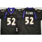 NFL Ravens #52 Ray Lewis Black M&N Throwback Jersey