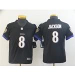 Youth Ravens Lamar Jackson #8 Black Vapor Untouchable Limited Jersey