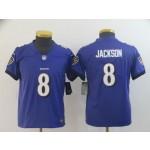 Youth Ravens Lamar Jackson #8 Purple Vapor Untouchable Limited Jersey