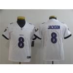 Youth Ravens Lamar Jackson #8 White Vapor Untouchable Limited Jersey