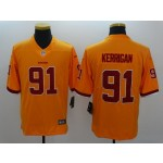 NFL Washington Redskins #91 Ryan Kerrigan Yellow Color Rush Limited Jersey