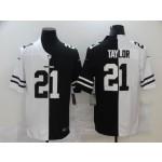 NFL Washington Redskins #21 Sean Taylor Men's Black V White Peace Split Nike Vapor Untouchable Limited Jersey