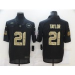Nike Washington Redskins #21 Sean Taylor Black Camo 2020 Salute To Service Limited Jersey