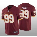 Nike Washington Football Team #99 Chase Young Red 2020 big Logo Name Vapor Untouchable Limited Jersey