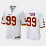 Nike Washington Football Team #99 Chase Young White 2020 big Logo Name Vapor Untouchable Limited Jersey