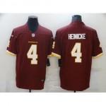 Men's Washington Redskins #4 Taylor Heinicke Red 2021 Vapor Limited Jersey