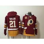 NFL Washington Redskins #21 Sean Taylor Red All Stitched Hooded Sweatshirt