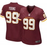 Women Nike Washington #99 Chase Young Red 2020 big Logo Name Vapor Untouchable Limited Jersey