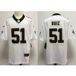 NFL New Orleans Saints #51 Cesar Ruiz white Vapor Untouchable Limited Jersey
