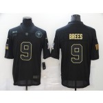Nike New Orleans Saints #9 Drew Brees Black 2020 Salute To Service Limited Jersey