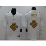 Nike New Orleans Saints #9 Drew Brees White Shadow Logo Limited Jersey