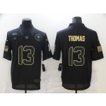 Nike New Orleans Saints #13 Michael Thomas Black 2020 Salute To Service Limited Jersey