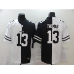 Nike New Orleans Saints #13 Michael Thomas Black And White Split Vapor Untouchable Limited Jersey